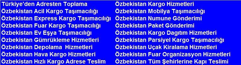 Özbekistan Fuar Kargo
